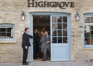 Prince Charles and Camilla, Duchess Of Cornwall, at the Highgrove shop in Tetbury