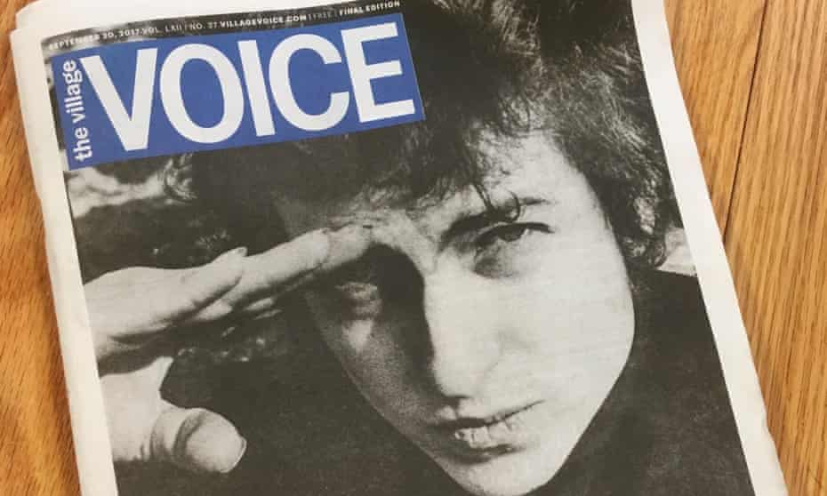 The image of Dylan was taken in January 1965, near the old offices of the Voice.