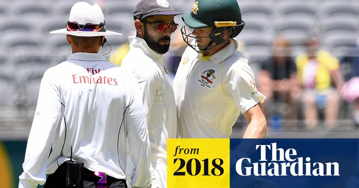 Australia Captain Tim Paine Has Sledging Spat With Kohli At Second Test Australia Cricket Team The Guardian