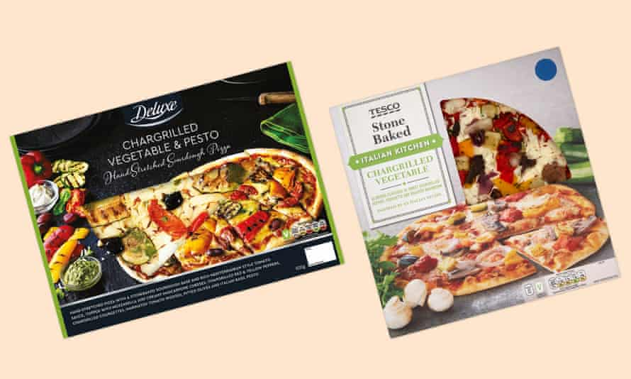 vegetable pizzas