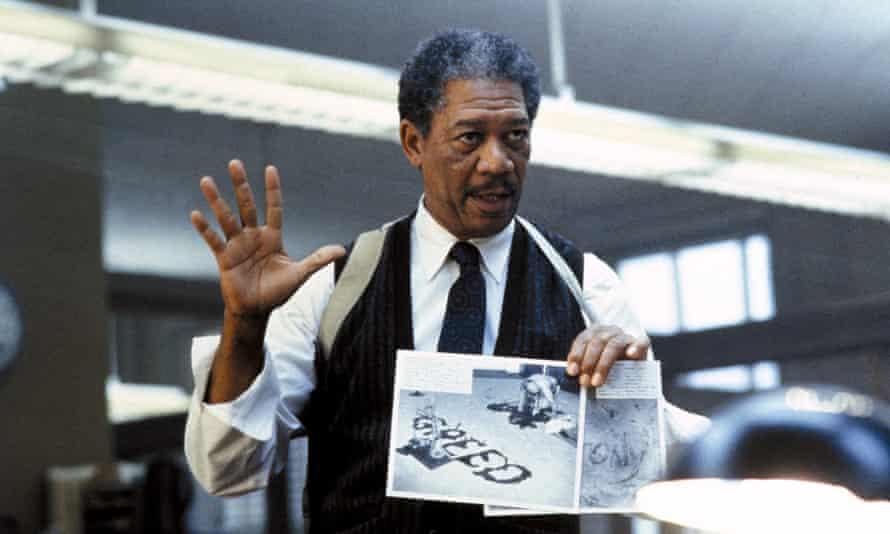 Morgan Freeman in Se7en.