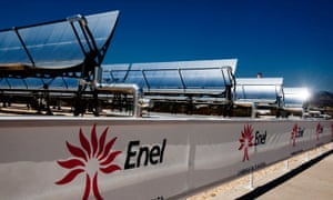 Enel SpA's combined cycle thermodynamic solar power plant in Priolo Gargallo, Italy