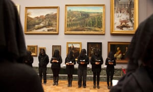 BP's sponsorship of the arts in the UK has been a focus for continuing protests and demonstrations. The protest here at the Tate gallery in London in November 2013 was aimed at BP's sponsorship of the gallery.