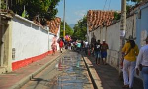 Whitewashed lanes in Valledupar's old town.