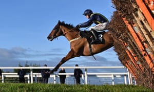 Fiddlerontheroof clears the the last before going on to win the Tolworth Novices Hurdle