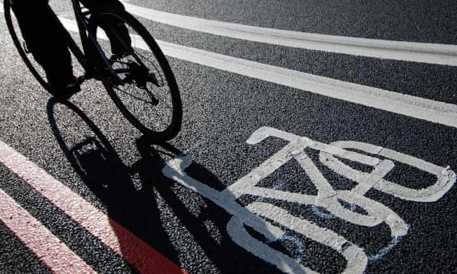 Bike in cycle lane