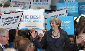 Theresa May speaking at Derby County FC, 1 June