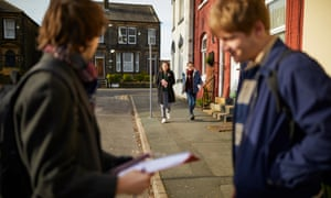 Momentum activists campaigning in Morley, Yorkshire.