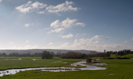 The River Culm meanders through the Devon countryside.
