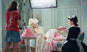 Sofia Coppola and Kirsten Dunst on the set of Marie Antoinette, at Château de Pontchartrain in France, 2005