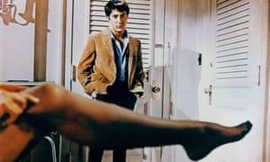 The Graduate, 1967, starring Dustin Hoffman and Anne Bancroft. The film established Buck Henry as a gifted writer with sly satirical leanings.