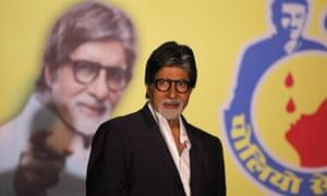 Bollywood superstar Amitabh Bachchan