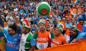 Indian fans during the match against England at Edgbaston.