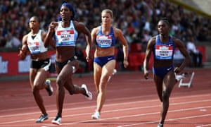 Dina Asher-Smith finished second behind Shaunae Miller-Uibo in the 200m at the Birmingham Diamond League.
