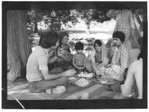 Nayeri's family having a picnic in Iran in 1976