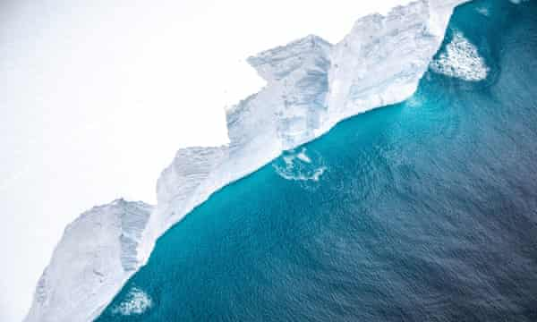 The A-68A iceberg near South Georgia, November 2020.