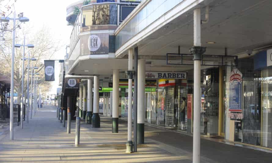Shepparton's Maude Street Mall, usually the hub of the city.