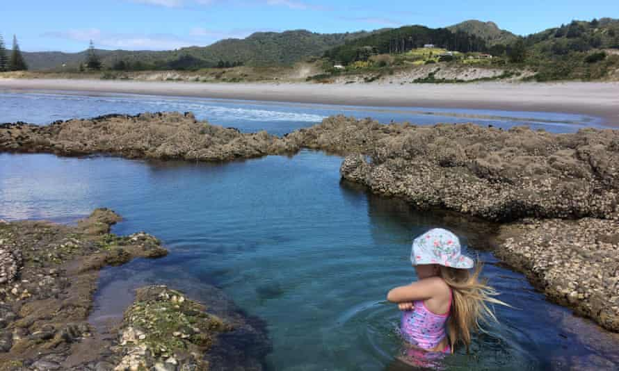 the mermaid pool at Medlands beach Great Barrier Island
