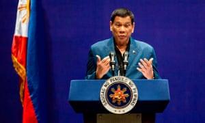Rodrigo Duterte has threatened to arrest International Criminal Court prosecutor Fatou Bensouda.