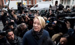 The Swedish prosecutor Ingrid Isgren arrives at the Ecuadorian embassyin November 2016