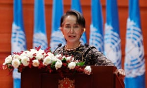 Aung San Suu Kyi: she has 'failed to use her position' to prevent crimes against Rohingya people