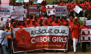 Bring Back Our Girls protesters march to presidential villa