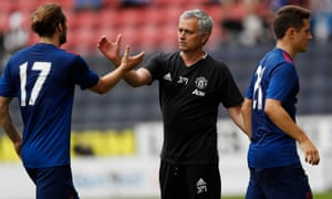 Manchester United manager José Mourinho after the pre-season friendly with Wigan Athletic at the DW Stadium.