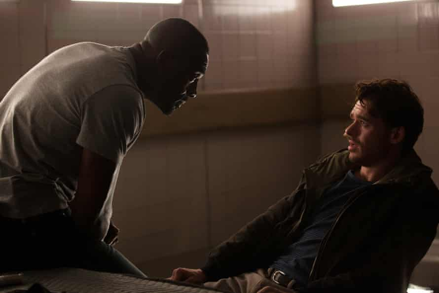 Respectable showing … Idris Elba and Richard Madden in Bastille Day.