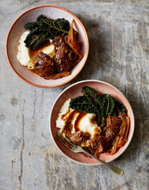 Thomasina Miers' slow-cooked pork cheeks with star anise, orange and rosemary