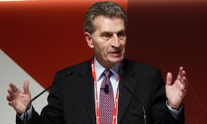 Gunther Oettinger, the European Commissioner of Digital Science and Society