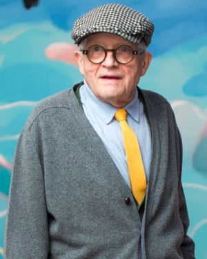 David Hockney at the opening of his Tate Britain exhibition in London.