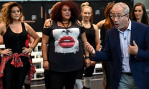 We Will Rock You writer and director Ben Elton (right) answers a question during a media call in Sydney in April 2016.