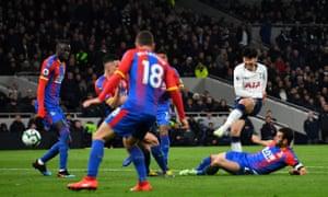 Tottenham's Son Heung-min scores their first goal