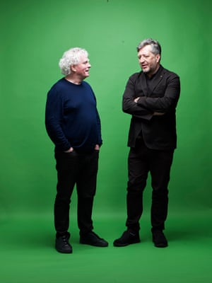 The conductor Simon Rattle, left, and composer Thomas Adès.