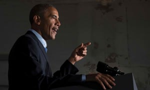 Obama spoke at a Chicago event for senate candidate Tammy Duckworth.