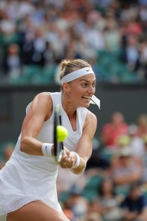 Petra Vitova during her women's singles fourth round match.