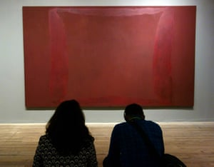 Visitors at Tate Modern's Rothko room.