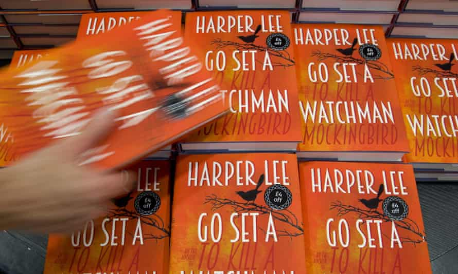 Copies of Go Set a Watchman on display on the day of release in 2015.