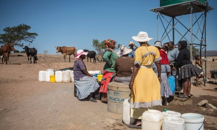 Residents of Nongoma, north-east of Durban, collect water.