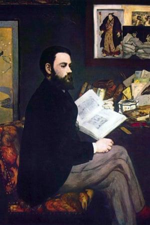 Portrait of Emile Zola, by Edouard Manet.