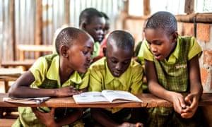 Students at a Bridge International Academies school in Kampala, Uganda.