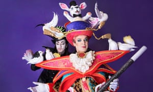 Julian Clary and Paul O'Grady in costume for Goldilocks and the Three Bears at The London Palladium.