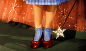 Dorothy's magic shoes from The Wizard of Oz.