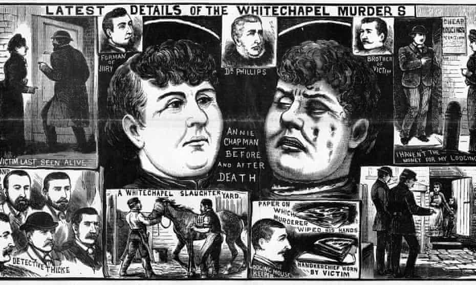 A detail from the front page of The Police News on 22 September 1888.
