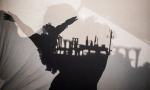 Shadow work, puppetry and improvisation … The Paper Man.