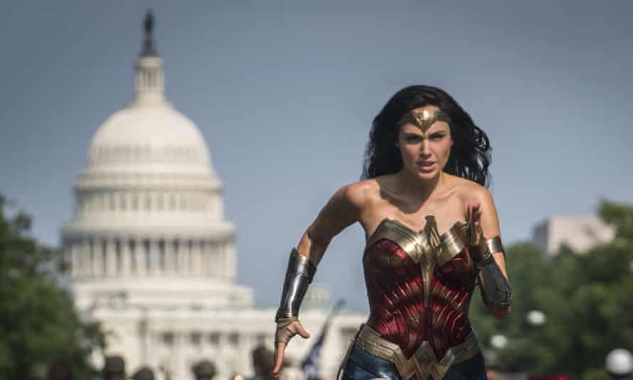 Gal Gadot as Wonder Woman in a scene from Wonder Woman 1984.