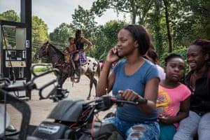 Pam Wrenn gives rides to kids