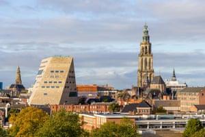 The exterior of Forum Groningen