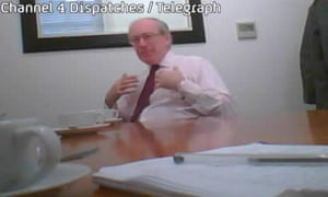 Malcolm Rifkind in Channel 4's Dispatches