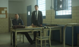 Holt McCallany and Jonathan Groff in season two of Mindhunter.